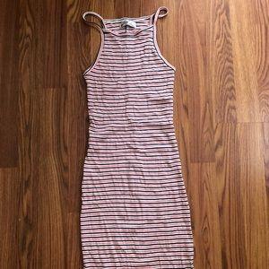 Hollister striped midi dress